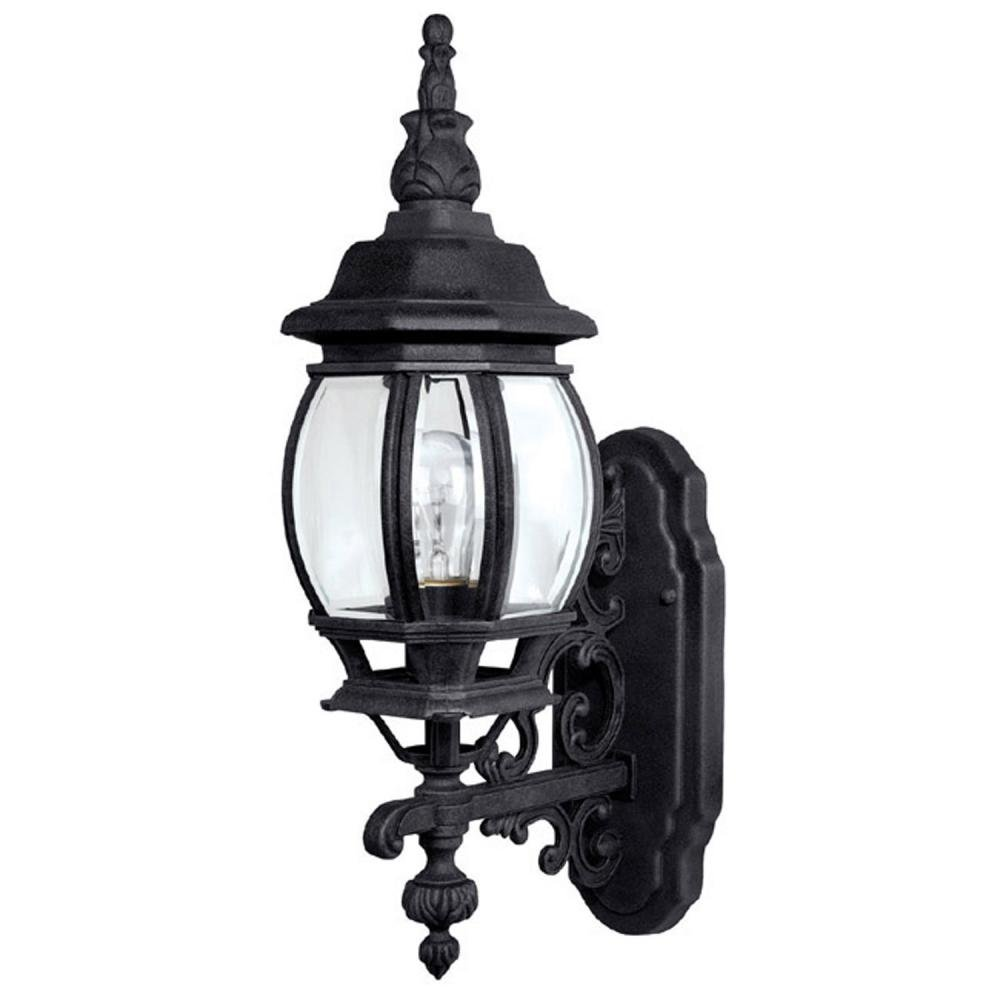 Capital Lighting 9867BK Outdoor Wall Fixture with Clear Glass Shades, Black Finish