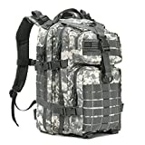REEBOW GEAR Military Tactical Assault Pack Backpack Small Army Molle Bug Out Bag Backpacks Rucksack for Outdoor Hiking Camping Hunting School 34L ACU