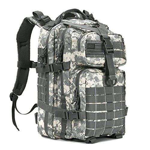 Acu Military Gear - Military Tactical Assault Pack Backpack Small Army Molle Bug Out Bag Backpacks Rucksack for Outdoor Hiking Camping Hunting School 34L ACU