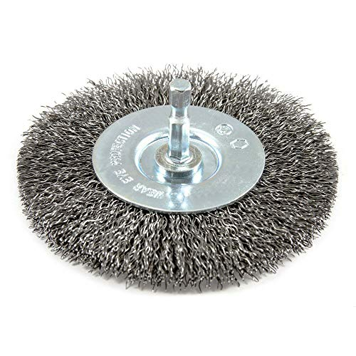 4 WIRE WHEEL BRUSH for Metal & Wood DRILL ATTACHMENT Stainless Steel