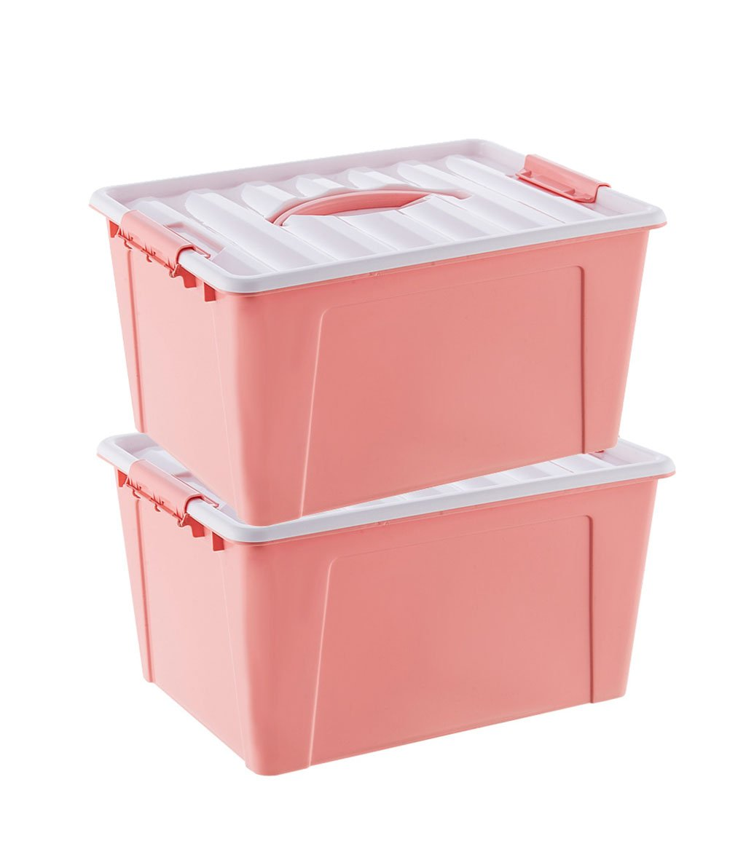 C-Bin1 スナック収納ボックス、リビングルームカバーポータブルプラスチック玩具寝具収納ボックス29.5-41CM 日用品の仕上げ (色 : C, サイズ さいず : 5.8L+11L+18L) 5.8L+11L+18L C B07PCRG94J