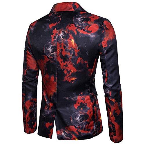 Fantasia Rot Giacca Casual Da Fit Suit Sportiva Blazer Giovane Stampato Slim Uomo zw7zqPg
