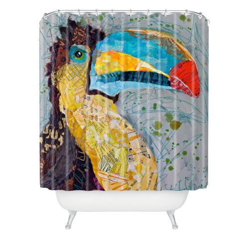Deny Designs Elizabeth St Hilaire Nelson Toucan Dance Shower Curtain, 69'' x 72'' by DENY Designs