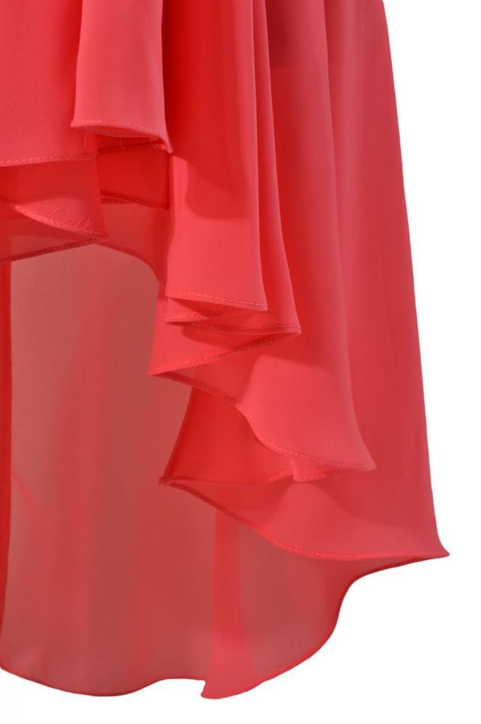 DaisyFormals Short High-Low Formal Dress V-Neck Chiffon Bridesmaid Dress(BM2422)- Gray by DaisyFormals (Image #3)