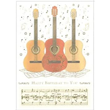 Guitar Trio Happy Birthday Greetings Card Amazonde Musikinstrumente