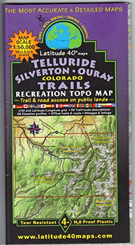 Telluride - Silverton - Ouray, Colorado Trails Recreation Topo Map