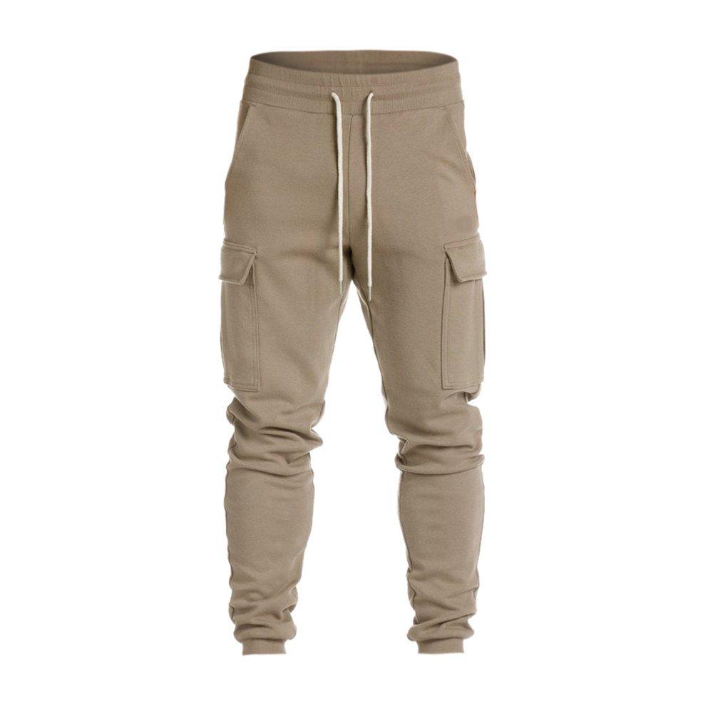 UJUNAOR Men Trousers Harem Sweatpants Slacks Casual Jogger Dance Sportwear Baggy