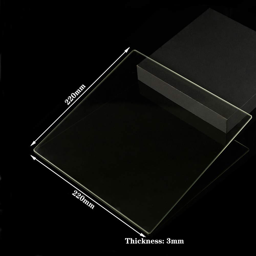 Placa de cristal de borosilicato para impresoras 3D, 220 mm x 220 ...