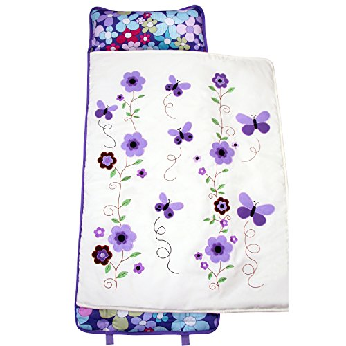 SoHo Nap Mat , Lavender Flowers(All Hand Embroidery)