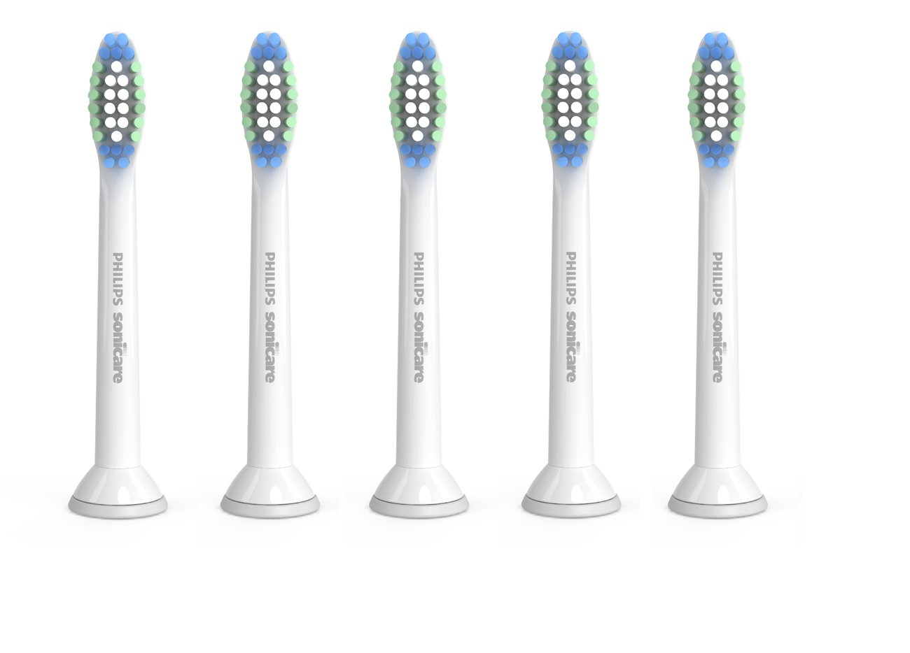 Genuine Philips Sonicare Simply Clean Replacement Toothbrush Heads, 5 Pack, HX6015/03 by Philips Sonicare