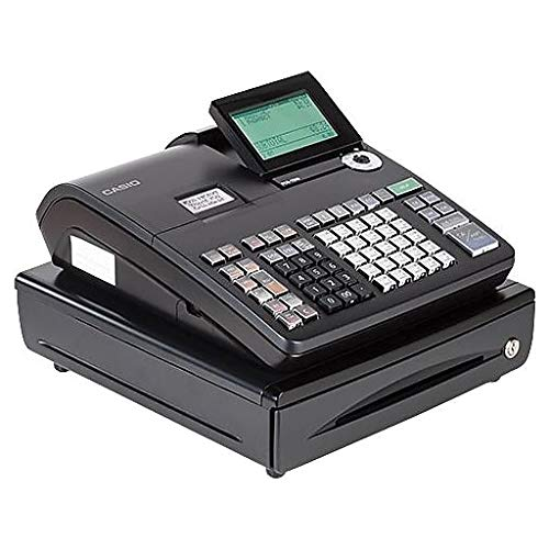 Casio Electronic Cash Registers, Single Tape Thermal Unit with 10-Line LCD Operator/2-Line Customer Displays (SE-S800) by Casio