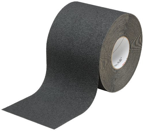 3M Safety-Walk Slip-Resistant Medium Resilient Tapes and Treads 310, Black, 6'' Width, 60' Length (Pack of 1 Roll)