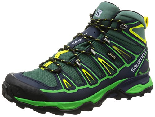 Salomon X Ultra Mid 2 GTX, Stivali da Escursionismo Uomo Verde (Bistro Green/Navy Blazer/Green Glow)