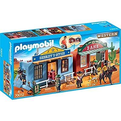 PLAYMOBIL Take Along Western City: Toys & Games