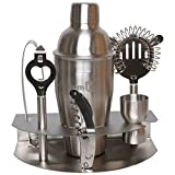 Homiu Premium Cocktail Shaker Set – Deluxe Cocktail Stainless Steel Bar Gift Set. 8 Piece set consists of a 24 oz. shaker with lid, tongs, strainer, double jigger, corkscrew & bottle opener, Elegant t Review