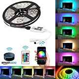 LinkStyle Led Light Strip WiFi Wireless Smart Phone Controlled Led Strip Light Kit with DC12V Power Supply Waterproof SMD 5050 16.4Ft(5M) 300leds RGB Tape Lights and Work with Android, iOS and Alexa