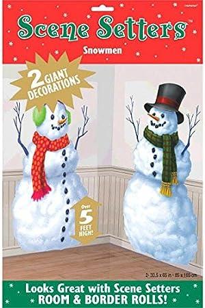 Amscan Snowmen Scene Setters Add-Ons 4 Count