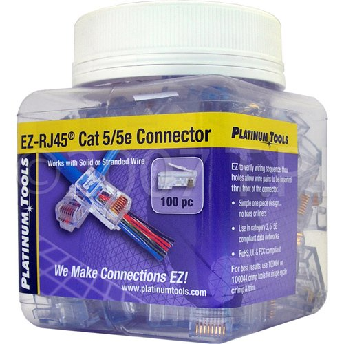 SCP EZ-45 100 EZ-RJ45 CAT5E Crimp Plugs