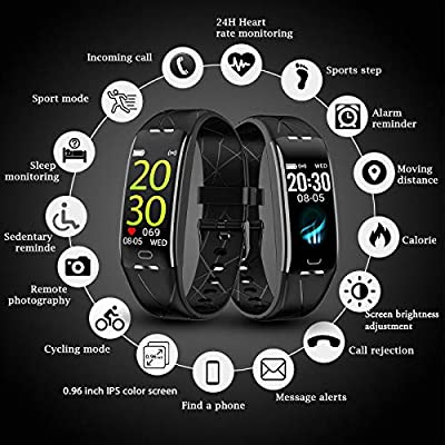 RobotsDeal Fitness Tracker Smart Watch H3 Plus Color Screen for Heart Rate Monitor Phone Enabled IP68 Waterproof Pedometer Sports Watch for Men