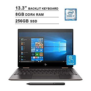 2020 HP Newest Spectre x360 13.3 Inch FHD Touchscreen 2-in-1 Laptop (Intel Core i7-8565U 4.60 GHz, 8GB DDR4 RAM, 256GB PCIe SSD, Bluetooth, Backlit Keyboard, Bang & Olufsen, Windows 10) (Silver)