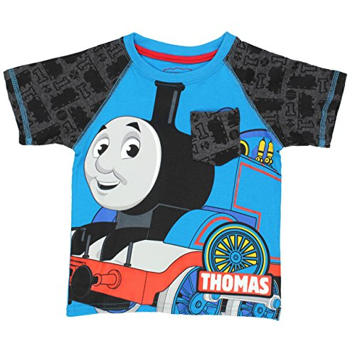 Thomas & Friends Short Sleeve Tee (4T, Blue/Grey Thomas)