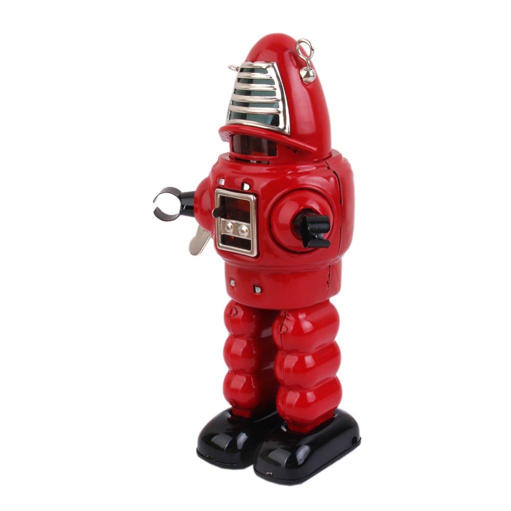 Juguete de Cuerda Robot Rojo Esta/ño Dise/ño Vintage
