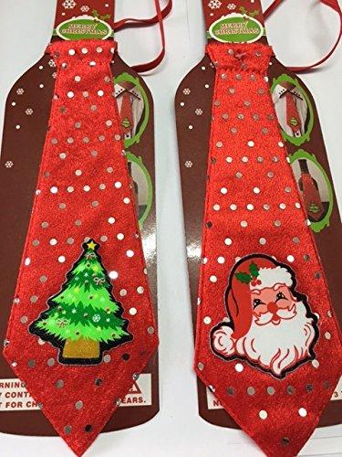All For You Cravatta di Natale, decorazioni festive party Fancy Dress Xmas Babbo albero divertente regalo novità decorazioni festive party Fancy Dress Xmas Babbo albero divertente regalo novità