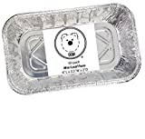 ": DOBI Mini Loaf Baking Pans - Disposable Aluminum Foil small Bread Tins, 6"" X 3.5"" X 2"" (Pack of 50)"
