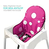 Ikea Antilop Highchair Seat Covers & Cushion by Zama, Washable Foldable Baby Highchair Cover Ikea Childs Chair Insert Mat Cushion (Purple)
