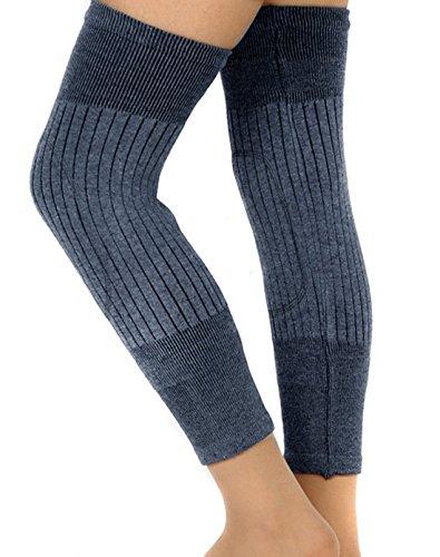 (Flyusa Unisex Cashmere Wool Knee Brace Pads Winter Warm Thermal Knee Warmers Sleeve for Women Men)