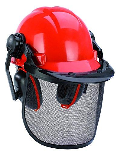 Einhell Forstschutzhelm BG-SH 1 (klappbarer und verstellbarer Gesichtsschutz, Gehörschutz)