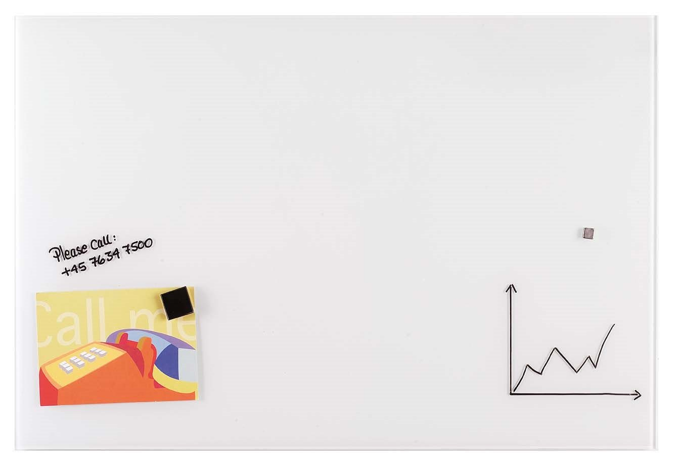Franken gt10010001/magnetiche Lavagna in Vetro 100/x 100/cm 35 x 35 cm bianco