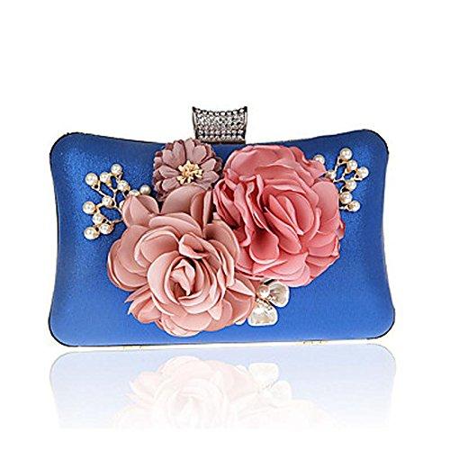 Pochettes Noir Fuchsia et KEY Rouge Polyester Violet Cliquet Argent clutches SUNNY blue nxZwRHw