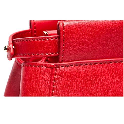 tamao Bolso clsico mujer Color cm ocio gran Rojo Bolso Rojo de SOOCO hombro cuero de de de Bolso Tamao 23 de para hombro rojo viaje de multifuncional 28 13 ARwYdvq