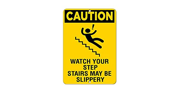 Amazon.com: Precaución reloj su paso escaleras puede ser ...