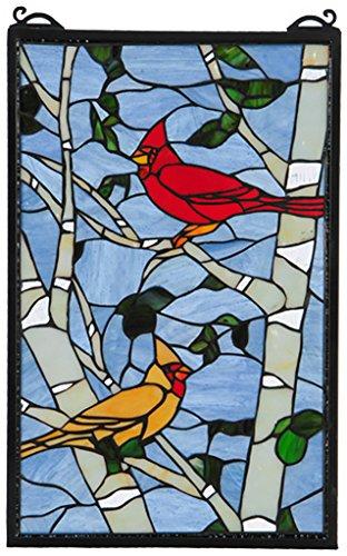 - Meyda Tiffany 119436 Cardinal Morning Decorative Window, 13