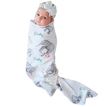 Amazon.com: WOBANG - Manta para recién nacido, diseño de ...