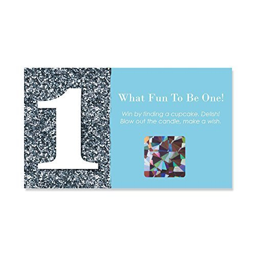 Big Dot of Happiness 1st Birthday Boy - Fun to be One - First Birthday Party Game Scratch Off Cards - 22 -