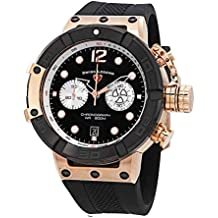 Swiss Legend Triton Chronograph Black Dial Watch SL-10719SM-RG-01-BB