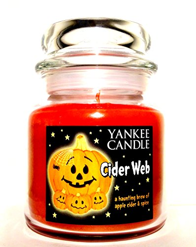 Yankee Candle Cider Web Scented Medium Single Wick Jar Candle ()