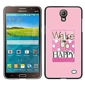 LECELL--Funda protectora / Cubierta / Piel For Samsung Galaxy Mega 2 -- Despierte feliz Salud lunar rosado Cita --