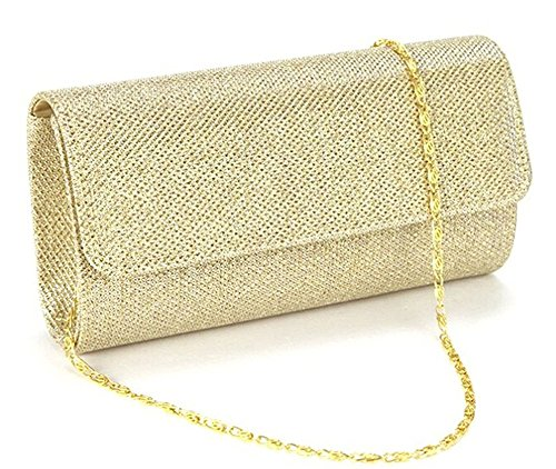 (Evening Bag Clutch Purses for Women,iSbaby Ladies Sparkling Glitter Party Handbag Wedding Bag with Chain)