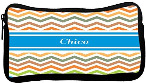 Rikki Knight Chico Blue Chevron Name Neoprene Pencil Case...