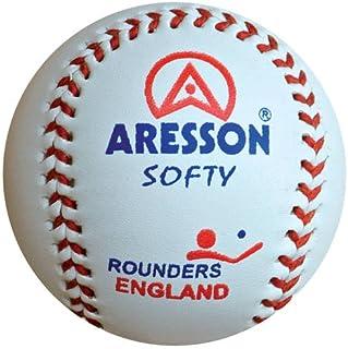 Aresson morbido baseball in pelle pratica palla Rounders England approvato