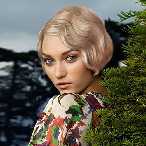 STfantasy Finger Wave Wig 1920s Flapper Ombre Blonde Women Cosplay Costume -