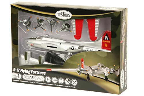 - Testors B-17 Flying Fortress Aircraft Model Kit (1:100 Scale)