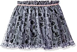 Disney D-Signed Big Girls\' Alice in Wonderland Print Skirt, White/Grey, M