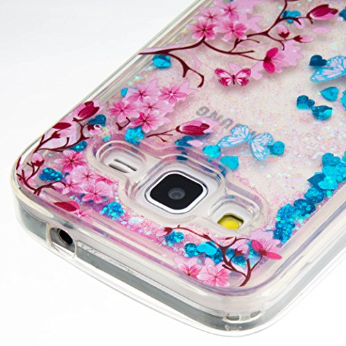 Para Samsung Galaxy Core Prime G360de SM sm-g361F (4,5pulgadas) funda, 3d fließen líquido para trucha, arenas movedizas estrella Bling Lujo Shiny brillo Sparkle Cristal Crystal Multicolor de amor d 12