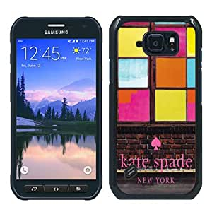 Genuine Kate S6 Active Case,Kate Spade 267 Black Samsung Galaxy S6 Active Screen Phone Case Lovely and Grace Design