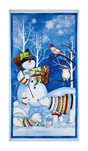 Wilmington Prints Snowy Friends Large 23in Panel Multi Fabric - Friends Fabric Panel